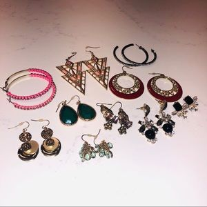 Jewelry - 10 Pairs of Earrings
